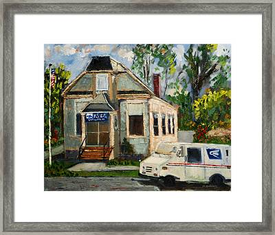 Post Office At Lafeyette Nj Framed Print