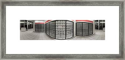 Post Office Boxes In Lobby, Federal Framed Print