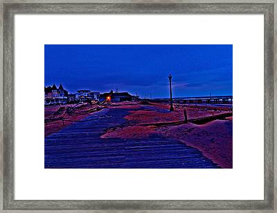 Post Sandy Effects Framed Print