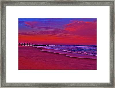 Post Sandy Pier Framed Print by Joe  Burns