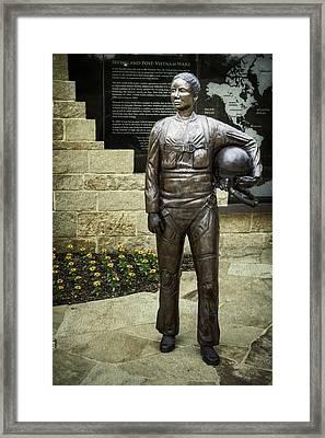Post-vietnam Memorial Statue Framed Print by Joan Carroll