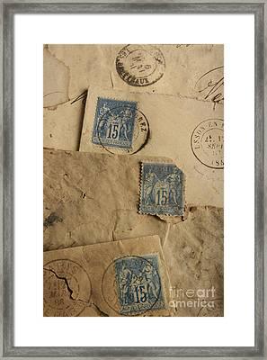 Postage Stamp Framed Print by Bernard Jaubert