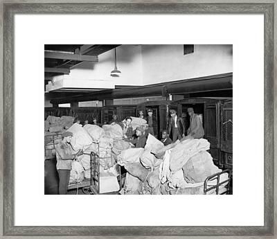 Postal Service Workers Framed Print