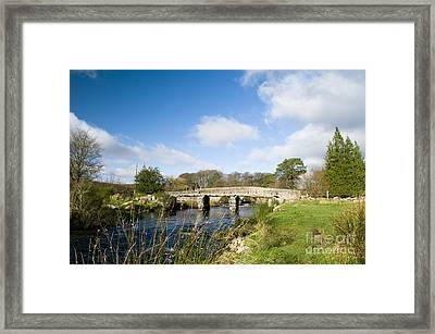 Postbridge Clapper Bridge Framed Print by Anne Gilbert