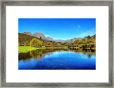 Postcard Cafe Framed Print by Chris Whittle