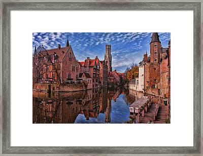 Postcard Canal Framed Print