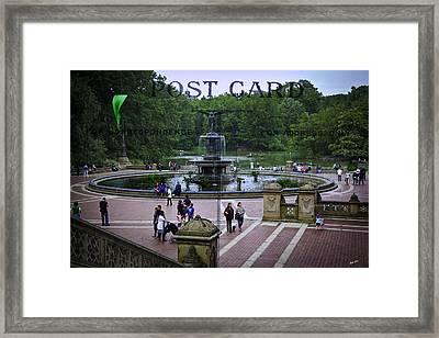 Postcard From Central Park Framed Print by Madeline Ellis
