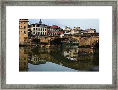 Framed Print featuring the photograph Postcard From Florence  by Georgia Mizuleva