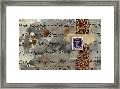 Postcard From India Collage Framed Print by Carol Leigh