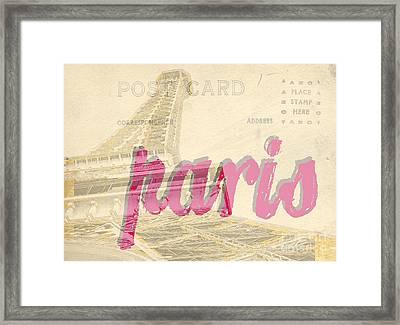 Postcard From Paris Framed Print by Edward Fielding