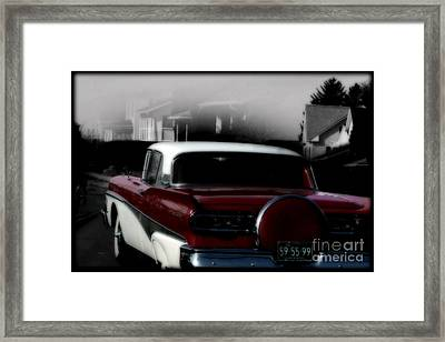 Postcard From The Fifties  Framed Print by Steven Digman