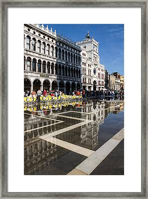 Framed Print featuring the photograph Postcard From Venice by Georgia Mizuleva