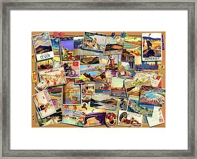 Postcard Uk Framed Print by Garry Walton