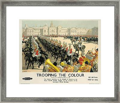 Poster Advertising British Railways Framed Print by Christopher Clark