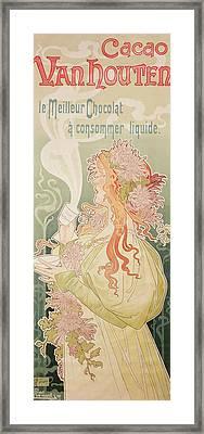 Poster Advertising Caco Van Houten Framed Print by Privat Livemont