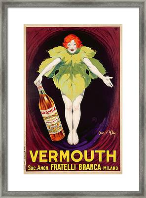 Poster Advertising Fratelli Branca Vermouth Framed Print by Jean DYlen