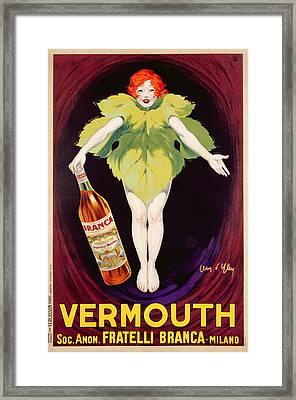 Poster Advertising Fratelli Branca Vermouth Framed Print by Jean DYlen