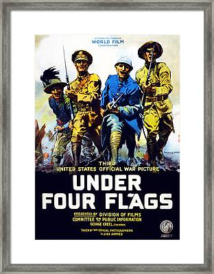 Poster Advertising The Film Under Four Framed Print