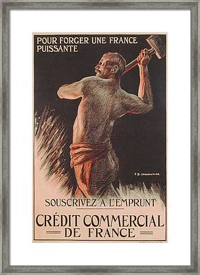 Poster Advertising The French National Loan Framed Print
