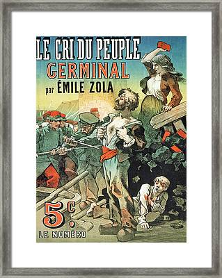 Poster Advertising The Publication Framed Print