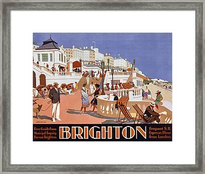 Poster Advertising Travel To Brighton Framed Print