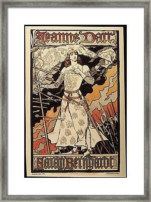 Poster Announcing The Performance Framed Print
