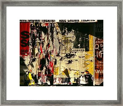 Poster Archaeology 5 Framed Print