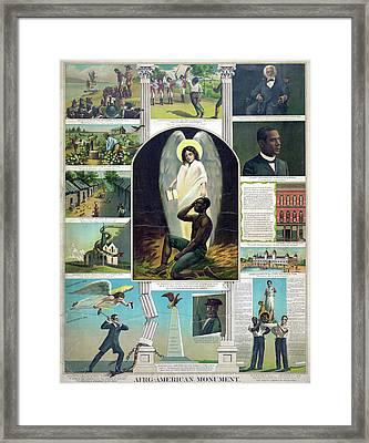 Poster Black History, C1897 Framed Print