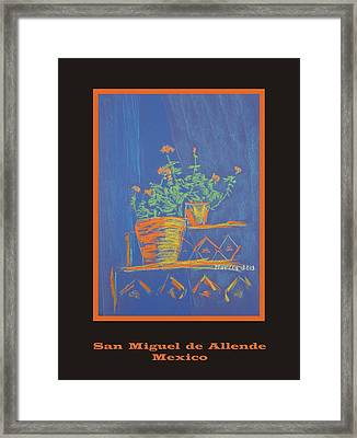 Poster - Blue Geranium Framed Print by Marcia Meade