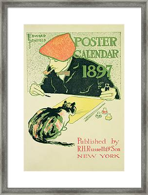 Poster Calendar, Pub. By R.h. Russell & Son, 1897 Colour Litho Framed Print by Edward Penfield