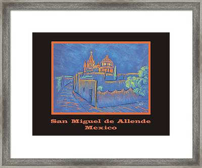 Poster - Cobblestone To The Basilica Framed Print by Marcia Meade