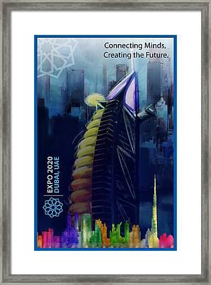 Poster Dubai Expo - 10 Framed Print