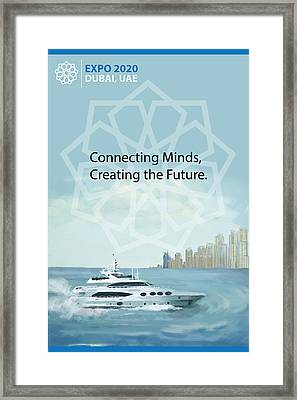 Poster Dubai Expo - 2 Framed Print by Corporate Art Task Force