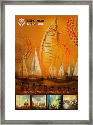 Poster Dubai Expo - 3 Framed Print by Corporate Art Task Force