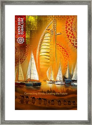 Poster Dubai Expo - 4 Framed Print by Corporate Art Task Force