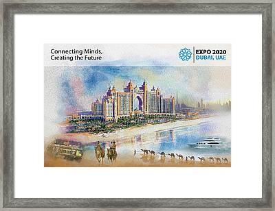 Poster Dubai Expo - 5 Framed Print by Corporate Art Task Force