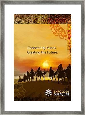 Poster Dubai Expo - 8 Framed Print by Corporate Art Task Force
