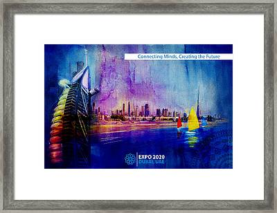 Poster Dubai Expo - 9 Framed Print by Corporate Art Task Force