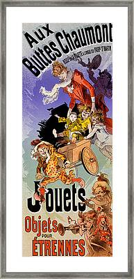 Poster For Aux Buttes Chaumont Toy Framed Print by Jules Cheret