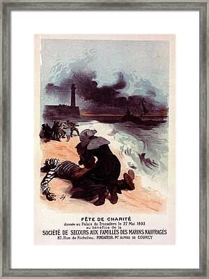 Poster For Fête De Charité Framed Print by Liszt Collection