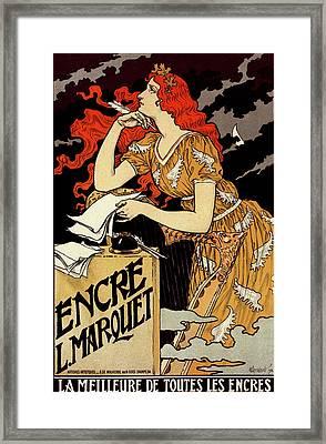 Poster For  L Encre Marquet. Eugène Grasset 1845 – 1917 Framed Print