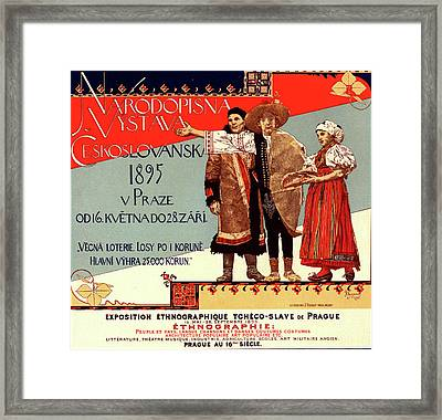 Poster For L Exposition Ethnographique Tchèco-slave De Framed Print by Liszt Collection