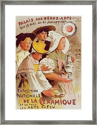 Poster For  L Exposition Nationale De La Céramique Et De Framed Print