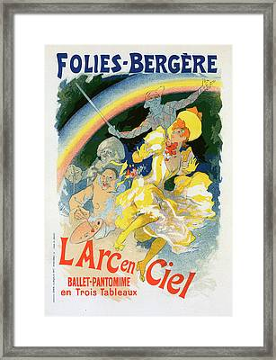 Poster For Larc-en-ciel Framed Print by Liszt Collection