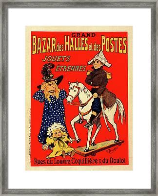 Poster For Le Bazar Des Halles Et Postes Framed Print