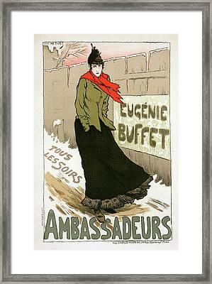 Poster For Le Concert Des Ambassadeurs Framed Print by Liszt Collection
