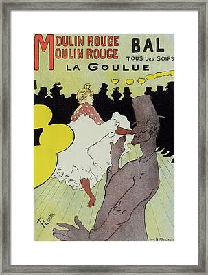 Poster For Le Moulin Rouge La Goulue. Toulouse-lautrec Framed Print by Liszt Collection