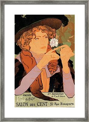 Poster For  Le Salon Des Cent Framed Print