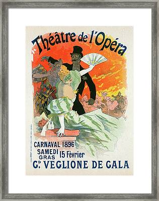 Poster For Le Théâtre De Lopéra Framed Print by Liszt Collection