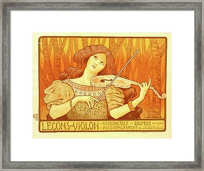 Poster For Leçons De Violon Framed Print